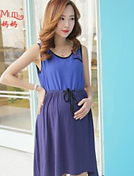 Summer Chiffon Skirt New stitching knitted leisure summer dress pregnant women