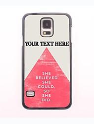 caso de telefone personalizado - triângulo caso design de metal para Samsung Galaxy S5