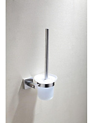 Polished Finish Stainless Steel Wire Drawing Toilet Brush Holder