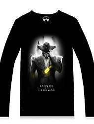 Men's Long Sleeve T-Shirt , Cotton/Lycra/Spandex Casual/Work/Sport/Plus Sizes Print