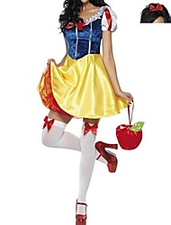 Cosplay Costumes Princess Fairytale Festival/Holiday Halloween Costumes Yellow Blue Patchwork Dress Headwear Halloween Carnival New Year