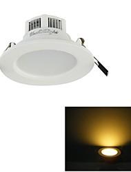 3W Lâmpada de Teto Encaixe Embutido 6 SMD 5730 300 lm Branco Quente / Branco Natural Decorativa V