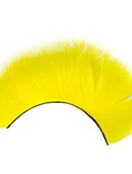 Thick Yellow Feather Carnival Eyelashes
