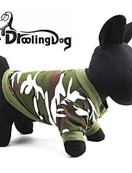 Cat / Dog Hoodie Red / Green Dog Clothes Spring/Fall Camouflage
