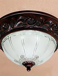 Mini disco diseño de montaje empotrado, 2 luz, vidrio pintura clásica del metal