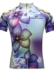 Jesocycling® Women's Spring And Summer Short Sleeve Cycling Jersey with High Quality Sublimated Printing