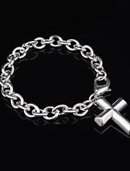 Women's Fashion Cross Design Silver Plated Charm Bracelet