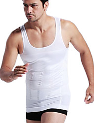 Men's Solid Casual / Sport Tank Tops,Polyester / Spandex Sleeveless-Black / White