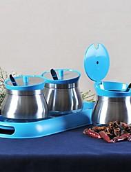 mohozone® multifuncionais 304 inoxidável vasilhas tempero aço pote (3pcs * 260ml)