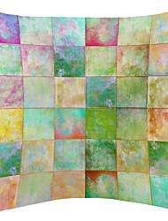 Lovely Little Blocks Pattern Velvet Decorative Pillow Cover