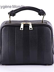 Oxygene Monde® Women's Cross Body Bag with Embossed Stripes