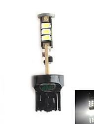 hj 7440 5W 450lm 5500-6000K 15x2835 SMD LED branco lâmpada de luz de freio de estacionamento (12-24V, 1 peça)