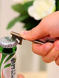 abridor de garrafa chave, metal 7,8 × 2,8 × 0,7 centímetros (3,1 × 1,1 × 0,3 polegadas) cor aleatória