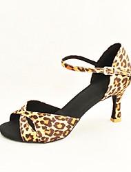 latin anpassbare Frauen Sandalen Leopard Tanzschuhe