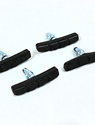 vélo caoutchouc + fer freinage noir plaquettes de frein (4 pièces)