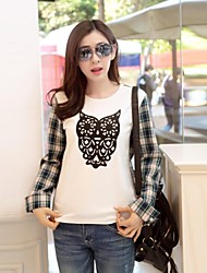 suelta-Camisa de manga larga de las mujeres