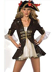 Retro estilo de la princesa del traje de Halloween del pirata Las mujeres de lujo de encaje