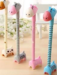 cute animale gel nero penna inchiostro bambini novità regalo di compleanno nozze favori baby shower di ritorno (colore casuale)
