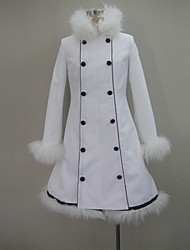 Inspired by Vocaloid Hatsune Miku Video Game Cosplay Costumes Cosplay Tops/Bottoms Solid White Long Sleeve Coat