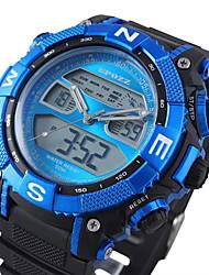 caucho resistente al agua reloj cronógrafo lcd reloj deportivo de la banda de los hombres (colores surtidos)