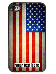 gepersonaliseerd geval Amerikaanse vlag ontwerp metalen behuizing voor de iPhone 4 / 4s
