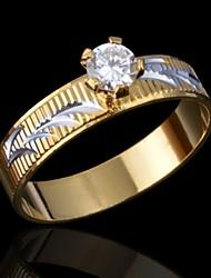 la qualité de la mode anneau de diamant de la feuille de la femme