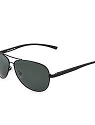 aviateur aluminium lunettes de soleil de conduite légère des hommes polarisés