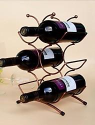 Vintage Design Steel Wine Rack Holder Bar Bottle Shelf Bar Decor Display Random Color