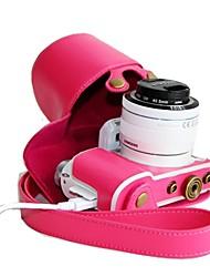 dengpin® retro pu lederen afneembare camera beschermhoes voor Samsung NX3000 met 16-50mm of 20-50mm lens