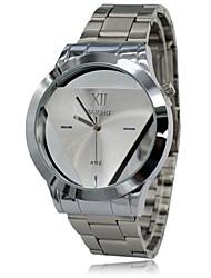 Hombre Reloj Cuarzo Reloj de Vestir Acero Inoxidable Banda Reloj de Pulsera