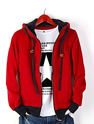 PROMOTION  Leisure Fashion Cap Rope With Cap Men's Fleece Jacket Coat