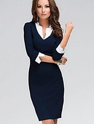 Women's  Fashion New Unique Collar Slim Pencil  Dress