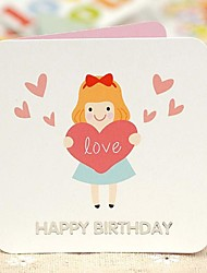 Love The Girl Mini Birthday Greeting Card (7.5*7.5cm)