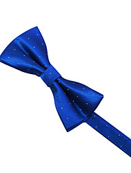 Blue&White Dots Bow Tie