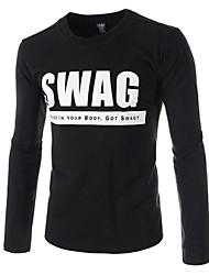 moda informal de manga larga T-shirts para hombres (más colores)