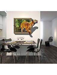Adesivos de parede adesivos de parede 3d, parede estilo tigre pvc adesivos