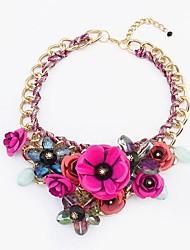 style européen bohème collier de fleurs douce