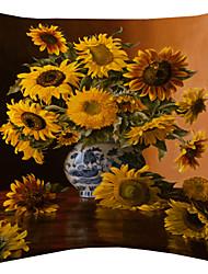girassol twopages® van Gogh na luz do sol de veludo capa de travesseiro decorativo