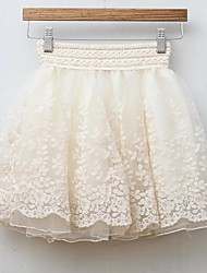 Women's White/Black Skirts , Casual Mini