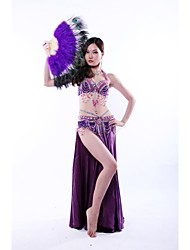 Belly Dance Outfits Women's Performance Sequined Silk Beading Paillettes Dropped