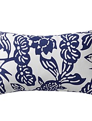 Modern Floral Cotton Decorative Pillow Cover