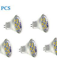 4W GU4(MR11) Точечное LED освещение 9 SMD 5730 430 lm Тёплый белый / Холодный белый DC 12 V