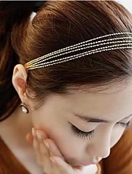 Golden Tassels Weaving Multilayer Metal Chain Headbands