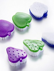 brosse de nettoyage en plastique, 5 × 5 × 2 cm (2,0 × 2,0 × 2,3 pouces) de couleur aléatoire