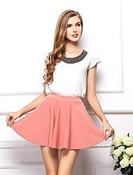 faldas sueltas alta cintura de las mujeres (más colores)