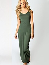 Women's Summer Hot  Sexy U Collar Stretchy Bodycon Maxi Vest Dress