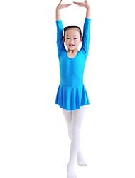 Kids' Dancewear Dresses Children's Training Cotton Long Sleeve Natural Princess 100:49,110:51,120:53,130:55,140:58,150:61