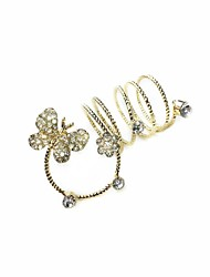 Ring Rhinestone Alloy Alloy 7 Gold