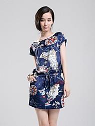 vestido novo de moda de verão das mulheres