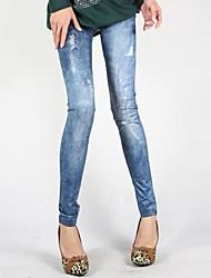 trou de la mode crayon pieds pantalons pour femme